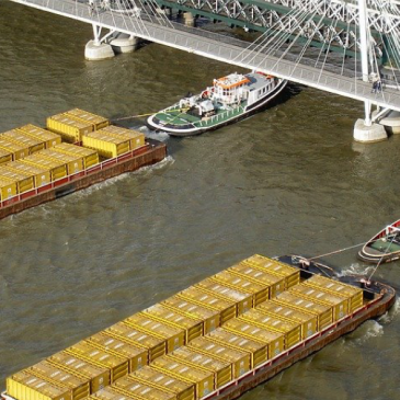 Freight routes: river barges